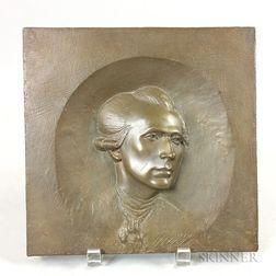 Bronze Portrait Plaque of John Singleton Copley
