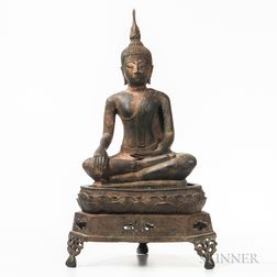 Bronze Statue of Buddha and Stand