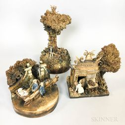 Three Charles D. Forster Ceramic Victorian Country Scenes