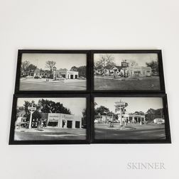 Set of Four Framed Photographs of a Salina, Kansas, Standard Petrol Station
