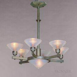 Art Deco Six-light Chandelier