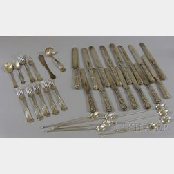 Approximately Forty-Two Sterling and Silver Plated Flatware
