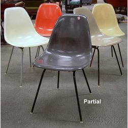 Eleven Eames Molded Fiberglass DAX Side Chairs