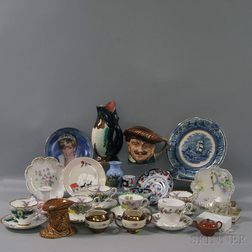 Approximately Thirty-one Assorted Pottery and Porcelain Items