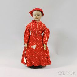 Oil-painted Cloth Izannah Walker Girl Doll