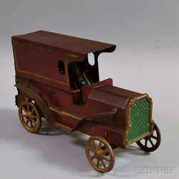 "Vintage Pressed Steel ""Howard Furniture Co."" Toy Delivery Truck"