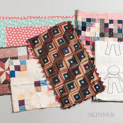 Six Mennonite Doll and Baby Quilts