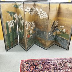 Japanese Six-panel Painted Screen