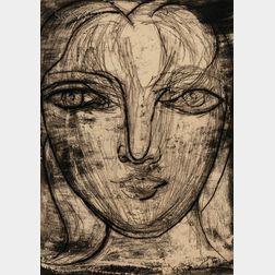 Pablo Picasso (Spanish, 1881-1973)      Portrait de Marie-Thérèse de face