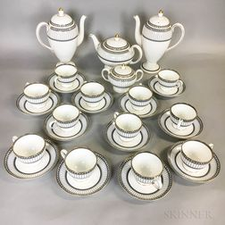 """Wedgwood """"Colonnade"""" Porcelain Tea Service for Twelve.     Estimate $200-200"""