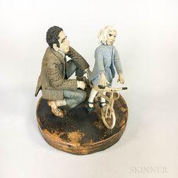 Charles D. Forster Ceramic Victorian Scene
