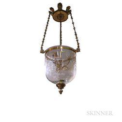Gilt-bronze Bell Jar Lantern