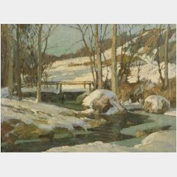 Frederick John Mulhaupt (American, 1871-1938)  New Hampshire Winter