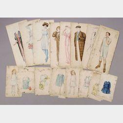 Original Art for McLoughlin Wedding Party Paper Dolls