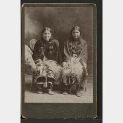 Cabinet Card of Two Southern Plains Girls