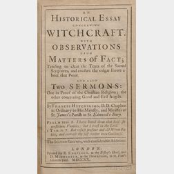 Hutchinson, Francis (1661-1739) An Historical Essay Concerning Witchcraft
