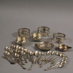 Group of Small Sterling Silver Tableware and Flatware