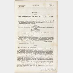 Message from the President of the United States [Concerning] the Boundary Line between the United States and the Republic of Texas.