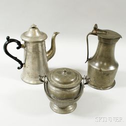 Three Pieces of Pewter Hollowware