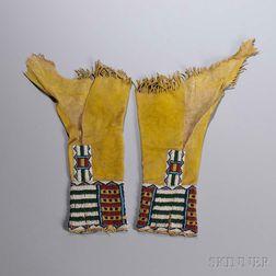 Cheyenne Beaded Hide Girl's Leggings