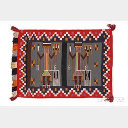 Navajo Germantown Yei Weaving