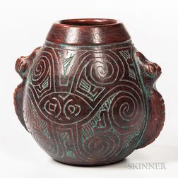 Contemporary Mexican Pottery Vessel