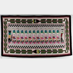 "Navajo ""Yei"" Rug"
