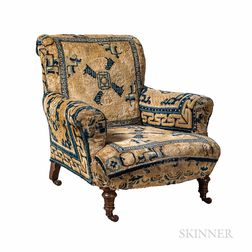Victorian Chair Upholstered with Ningxia Mats