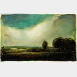 David Bierk (American/Canadian, 1944-2002)      California Hills, Springtime near San Rafael