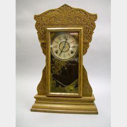 Oak Gingerbread Clock by William L. Gilbert