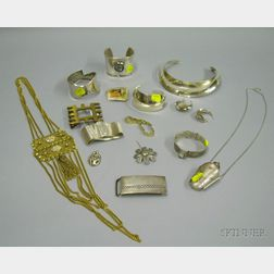 Group of Assorted Mostly Silver Jewelry