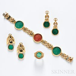 14kt Gold and Cameo Suite