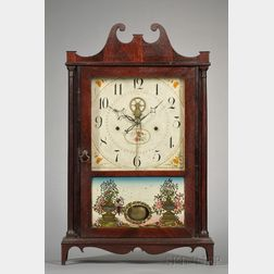 Mahogany Outside Escapement Pillar and Scroll Clock by Eli Terry