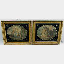 After William Hamilton (British, 1751-1801)      Pair of Neoclassical Prints: Diana