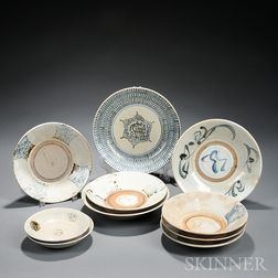 Ten Studio Pottery Dishes