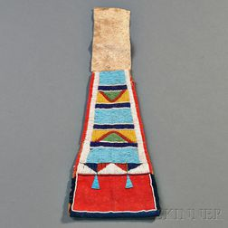 Crow Beaded Hide Drop