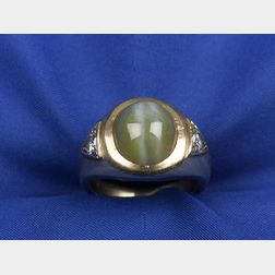 Gentleman's Cat's-eye Chrysoberyl Ring
