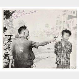 Adams, Eddie (1933-2004) Signed Photograph, General Nguyen Ngoc Loan executing a Viet Cong Prisoner in Saigon  , 17 June 1969.