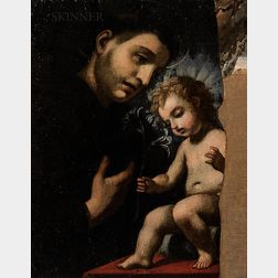 Continental School, 19th Century      St. Anthony Adoring the Infant Christ