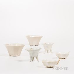 Three Pairs of Blanc-de-Chine Libation Cups
