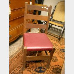 Four Arts & Crafts Oak Side Chairs