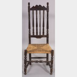 Black Painted Bannister-back Side Chair