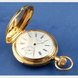 Antique 18kt Gold Five Minute Repeating Pocket Watch, Perret & Fils, Brenets