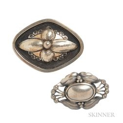 Two Silver Brooches, Georg Jensen