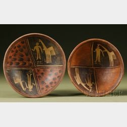 Two Pre-Columbian Painted Pottery Bowls