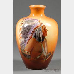 Handpainted American Belleek Vase