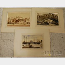 Hermann Armour Webster (American, 1878-1970)      Lot of Three Views of Venice