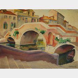 Robert Hallowell (American, 1886-1939)      Ponte Tre Archi ,  Venice