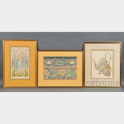 Six Art Nouveau Prints:      Georges De Feure (French, 1868-1943), Journal des Ventes, Plate 146