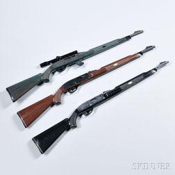 Three Remington .22 Caliber Semi-automatic Rifles
